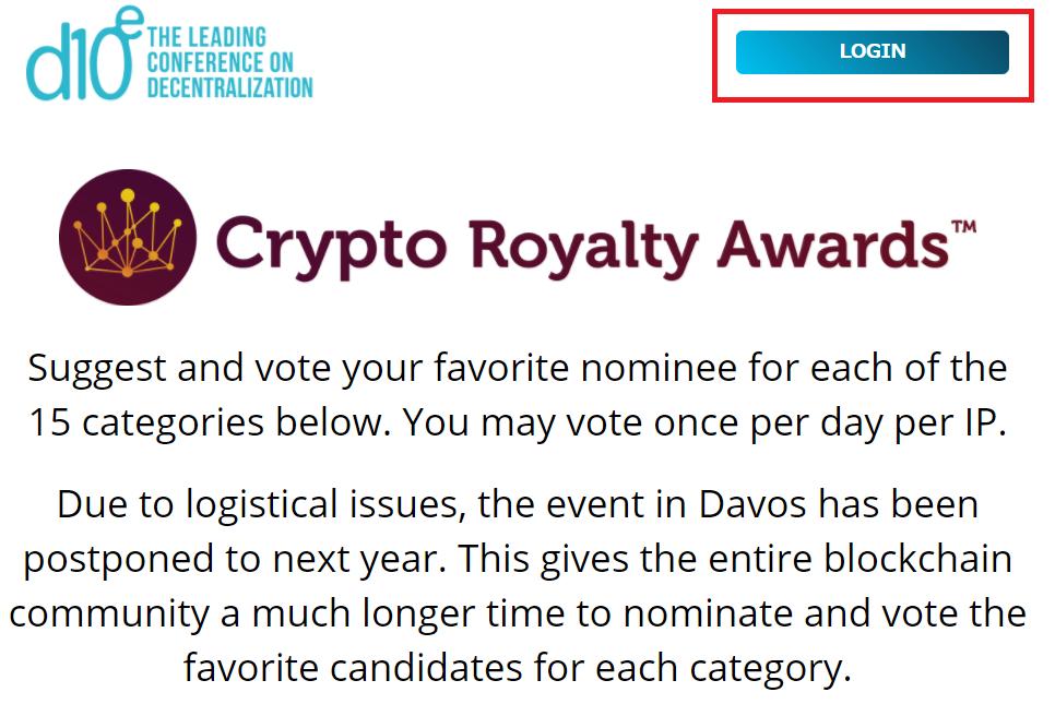 crypto-royalty-awardsトップページ